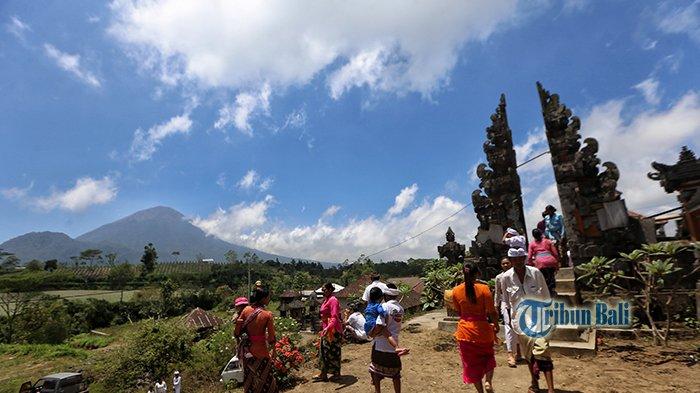 Zaman Gunung Agung Meletus Dulunya, Pura Ini Jadi Tempat Berlindung, Ini yang Dilakukan Kini